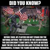 NFL Players Rumored To Stand For National Anthem After Defense Department Paid [Fact Check]