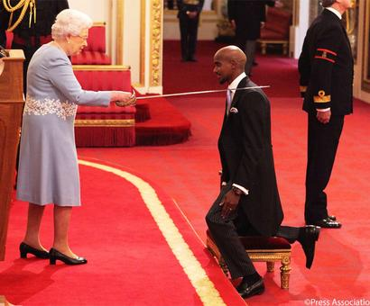 PIX: Four-time Olympic champion Mo Farah receives knighthood