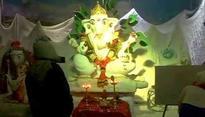 Snow Ganpati idol cools up Mumbaikars on Ganeshotsav