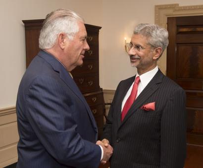 Modi visit will advance fight on terror, Tillerson tells Jaishankar