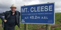 Monty Python star Eric Idle visits Cleese dump