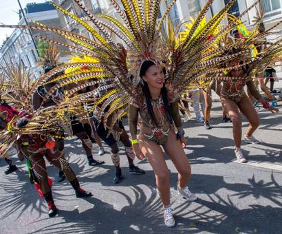It's feathers and a whole lot of fun at Notting Hill carnival