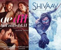 Ajay Devgn's Shivaay and Karan Johar's Ae Dil Hai Mushkil to have equal number of shows in single screen theatres
