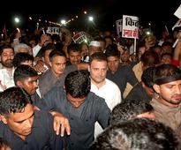 Midnight march: Modi must start the job of Beti Bachao, says Rahul Gandhi