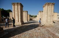 Palestinians give glimpse of Jericho mosaic