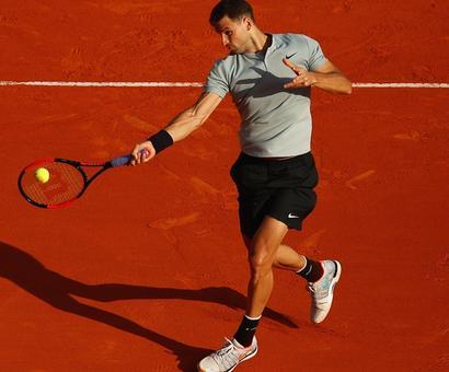 Dimitrov, Thiem survive early scares in Monte Carlo