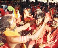 Bhavani deeksha devotees throng Indrakeeladri
