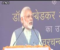 PM Modi inaugurates Dr Ambedkar International Centre, takes dig at Rahul's Somnath visit