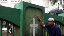Jakarta police probe mosque vandalism amid tension ahead of election