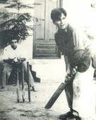 Here's a throwback photo of Dilip Kumar playing cricket