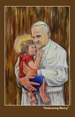 Filipino liturgical artist gives Pope Francis another framed artwork