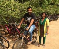 Irfan Pathan bats for 'recycled cycles' for underprivileged children