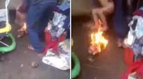 Vidoe: Stepfather holds toddler over fire as punishment for bed-wetting, held