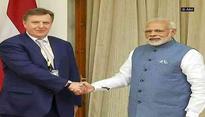 PM Narendra Modi meets Latvian PM Maris Kucinskis