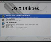 How do I restore my Mac with Time Machine