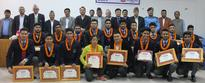 MoYS felicitates U-19 cricket team