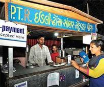 Small vendors switch to e-wallets