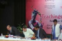 A Ramlila at India Islamic Centre, RSS Leader Presides