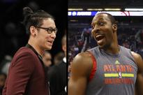 Dwight Howard offers Jeremy Lin handshake, then dabs on him instead