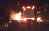 Truck fire on Coquihalla