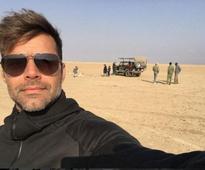 Musician Ricky Martin holidays in Kenya