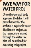 Civic body to decide on water tax hike tomorrow