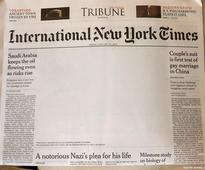 Pakistan Paper Censors Gay Kiss onNew York Times Cover