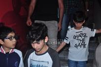 Movie night! Hrithik Roshan bonds with his kids Hridhaan and Hrehaan