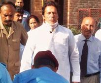 Imran Khan leaves hospital after fall