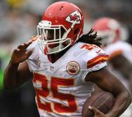 Jamaal Charles questionable with swelling in knee