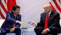 Trump, Abe discuss exerting pressure on North Korea