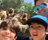Hrithik Roshan and Sons Wear Kala Chashma in Beyond Adorable Pic