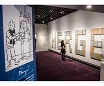 Art exhibition shows dark, gloomy side of Tintin creator