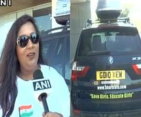 NRI woman completes record breaking solo road-trip from UK to India