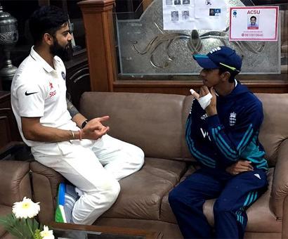 Cook, Kohli applaud brave Hameed