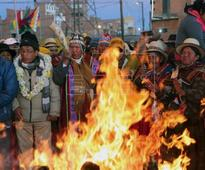 Bolivia's Indians celebrate New Year 5524