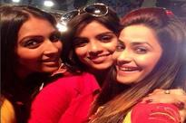 Dimple Jhangiani's night out with Sayantani Ghosh and Meghna Naidu