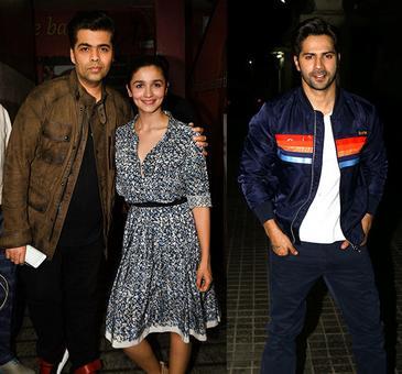 PIX: Varun, Alia, Karan watch Badrinath Ki Dulhania