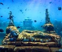 This Vishnu temple is submerged under water!
