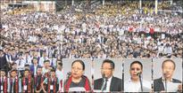NSF protest rally for repeal of AFSPA