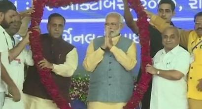PM launches RO-RO ferry service, his 'dream project', in Gujarat