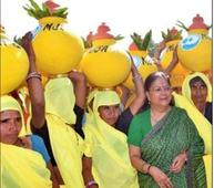 Raje launches 2nd phase of water conservation mission