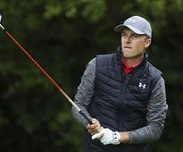 British Open 2017: Jordan Spieth shares lead with Brooks Kopeka and Matt Kuchar after first round