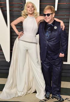 Lady Gaga and Elton John turn designers for charity