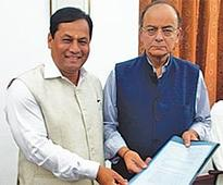 Sonowal seeks Jaitley help for release of funds