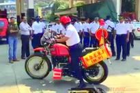 Royal Enfield Himalayan with fire fighting capabilities for Mumbai Fire Brigade