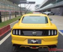 Ford Mustang GT spied at BIC ahead of India launch tomorrow