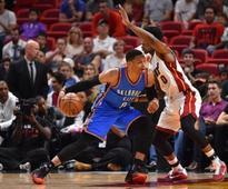 NBA roundup: Westbrook's triple