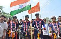 Cycling 2,200 km with green message