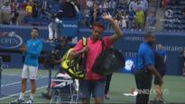 Novak Djokovic into US Open semi-finals after Jo-Wilfred Tsonga retires injured